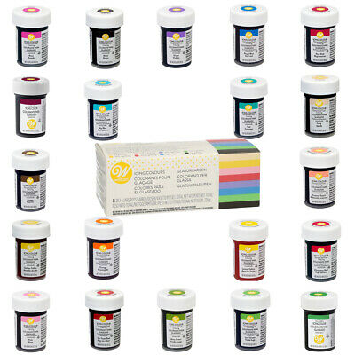 Wilton Icing Colour Edible Concentrated Food Colouring Gel Paste - 20 Colours