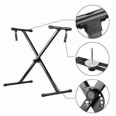 Portable Piano Stool Keyboard Stand X-Style Music Stand Adjustable W Foldable UK