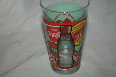"Vintage Coca-Cola Sign Glass 6"" Tall"