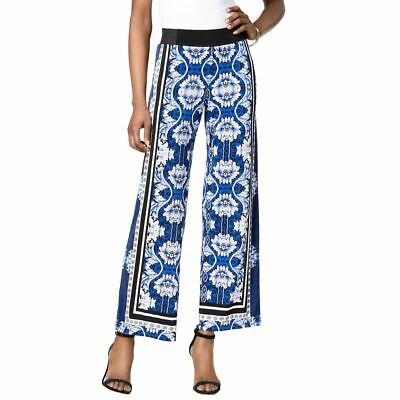 INC Women's Printed Wide Leg Reg Fit Pull On Palazzo Pants TEDO