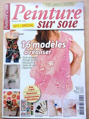Magazine Painting on Silk - 16 Models to Realize N°1