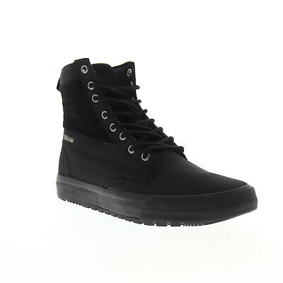 Supra Graham CW 05896-001-M Mens Black Nubuck Lace Up High Top Trainers Shoes