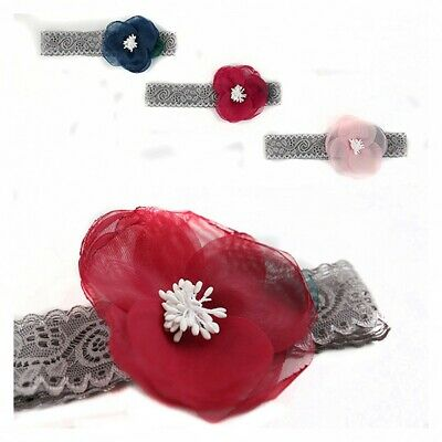 Elastic Toddler Lovely Cute Baby Headband Girl Headwear Lace Flower Hair Band