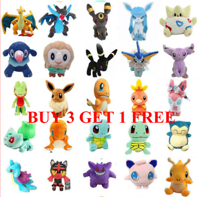 UK Kids New Cute Rare Pikachu Plush Doll Soft Toys Stuffed Teddy Party Hot Gifts