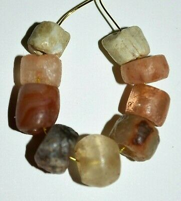 Ancient Glass Stone Excavated Djenne Dig Beads Mali African Trade 1000 Years Old