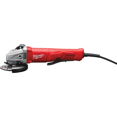 Milwaukee 4 1/2in. Small Angle Grinder - 11 Amp, Paddle, Lock-On, Model# 6141-30