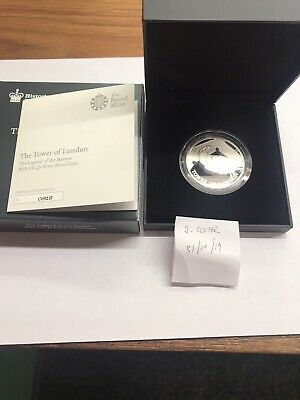 SILVER PROOF Tower Of London £5 Collectors Coin Legend Raven 2019 UK COA