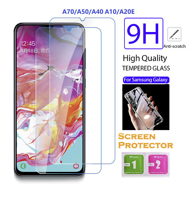 Genuine TEMPERED Glass Screen Protector & Case For Samsung Galaxy A10 A40 A70