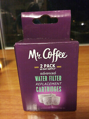 Mr. Coffee 2104490 Advanced Water Filter Replacement Cartridges, 2 Pack | 60-Day