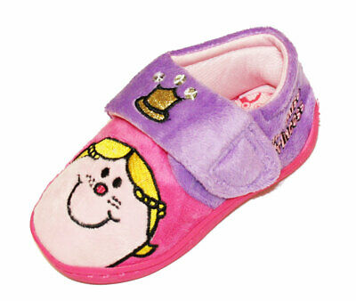 New Kids Girls Novelty Little Miss Princess Cartoon Character Slipper UK 9