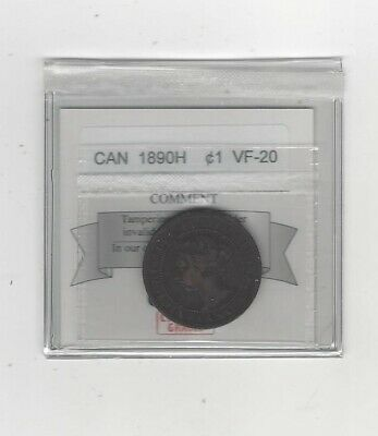 1890H  Coin Mart Graded Canadian, Large One Cent, **VF-20**