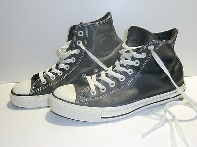 CONVERSE AS CHUCKS Hi Leder schwarz Gr 41 Chuck Taylor All