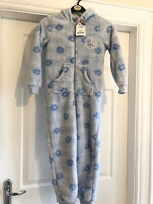 Marks & Spencer Frozen Fleece Pyjamas One Piece NEW Age 7-8 💕 £25