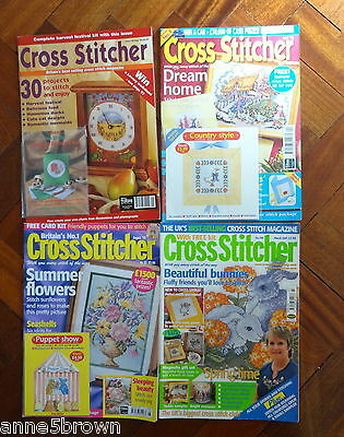4 Cross Stitcher Magazines - Issues 22, 81, 85 & 106  + 3 Free Gifts