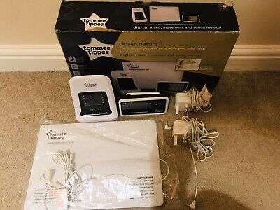 TOMMEE TIPPEE DIGITAL VIDEO MOVEMENT BABY MONITOR 1094S CLOSER TO NATURE(faulty)