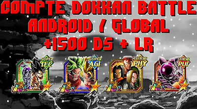 Comptes Dokkan Battle Global Android Ds + Lr