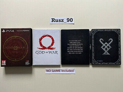 STEELBOOK ARTBOOK BOX ONLY God Of War Limited/Collectors Edition PS4 READ DESCR