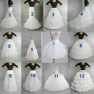 AU Wedding Petticoat Bridal Hoop Crinoline Prom Underskirt Fancy Skirt Slip 2020