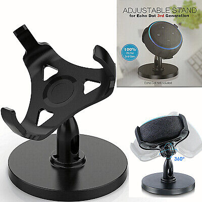 360° Adjustable Stand Bracket Mount Table Holder For Echo Dot 3Rd Generation