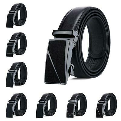 Ideal Men's Automatic Buckle Belts Ratchet Genuine Leather Belt Strap Waistband