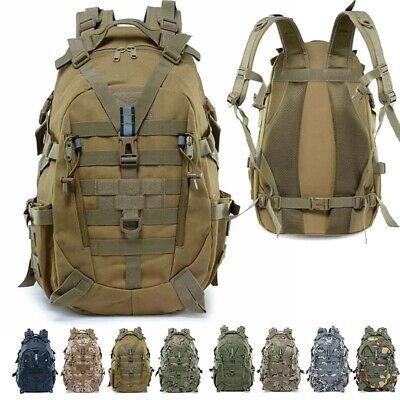 Tactical Army Military Backpack Rucksack Camping 25L Assault Hiking Trekking Bag
