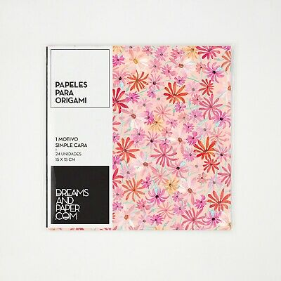 24 x Origami Paper one Sided 90gsm Paper 15cm Square