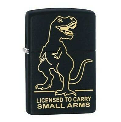 100% Genuine Zippo Lighter Small Arms Black Matte In Box, New