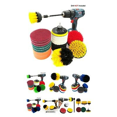 Drill Brush Power Scrubber Scouring Scrub Pad Bathroom Tile Cleaning Kit Tools