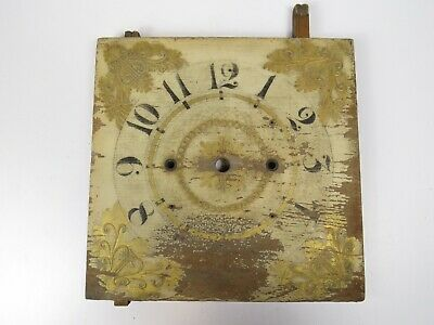 Antique Clock Face Dial Hand Painted Wood Tall Clock Salvage Gilt STUNNER