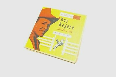 Vintage Roy Rogers Souvenir Album With Two 45 Records By Rca Victor Country