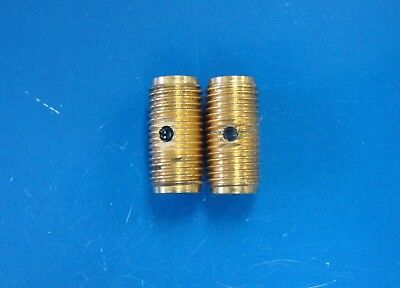 SMA (F) to SMA (F) Connector Adapter Female Jack, Golden, Qty.2