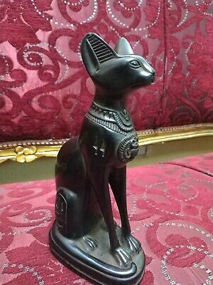 Antique Statue Rare Ancient Egyptian Pharaonic BASTET STATUS Ubaste Cat 2890 Bc