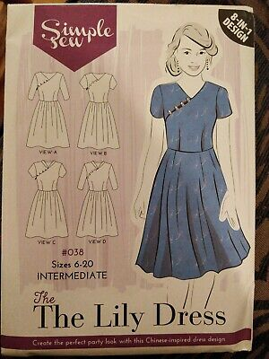 Womens INTERMEDIATE The Lily Dress UK SIZE 6-20 Sewing Pattern