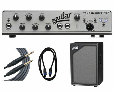 Aguilar Tone Hammer 700 + SL 212 Cabinet + Cables