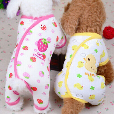 Embroidery Cat Dog Pajamas Soft Cotton Jumpsuit Puppy Apparel Clothes Pet Small