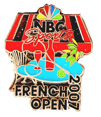 2007 French Open Championships Nbc Guest Pin