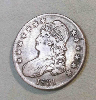 1831 Bust Half Dollar VF-XF Sharp Nice Coin Shooting Stars Effect