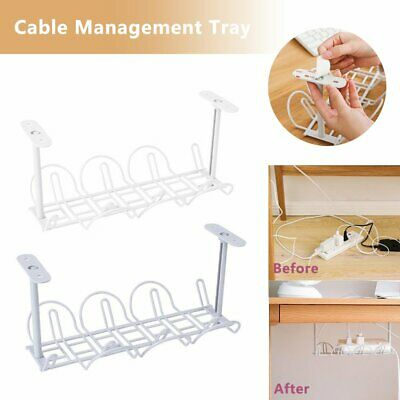 Under Desk Cable Management Tray Organizer Storage Wire Cord Power Charger K4