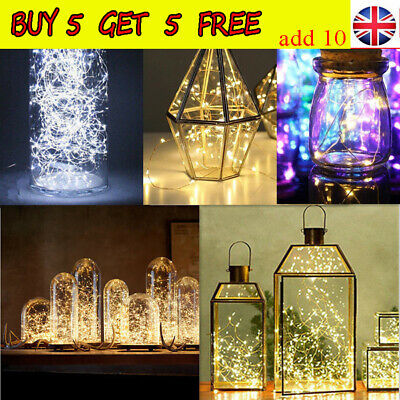 20/50/100 LED Battery Micro Rice Wire Copper Fairy String Lights Party Decor AV