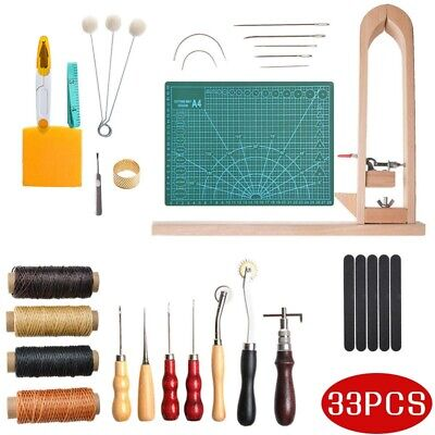 Leather Craft Kit Punch Working Tools Stitching Carving Sewing Saddle Groover