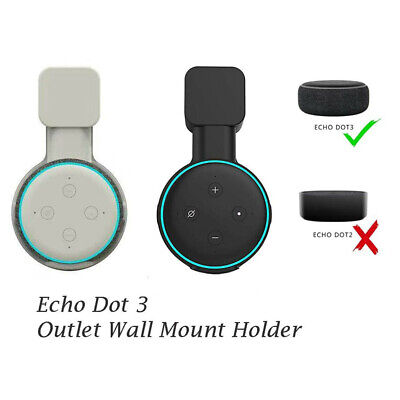 Outlet Wall Mount Holder Stand Hanger Socket For Echo Dot 3rd Gen Speaker UK