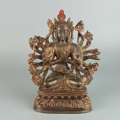 Chinese Exquisite Handmade Buddha copper statue