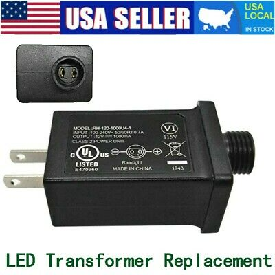 12V 1A Class 2 Power Supply, LED Transformer Replacement for String Light Inflat