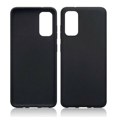 TPU Gel Case / Cover for Samsung Galaxy S20 - Solid Black Matte Finish