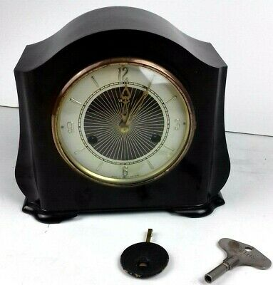 Smiths 1950s Aberdeen Bakelite Chiming Mantle Clock with Key - For Repairs
