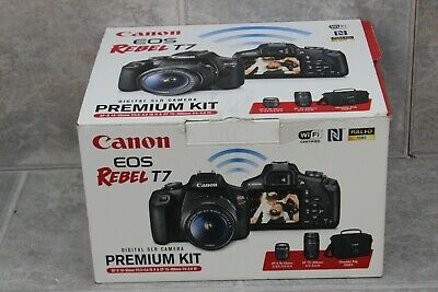 Canon EOS Rebel T7 24.1 MP Digital SLR Camera - Black (Premium Kit-  2 Lenses)