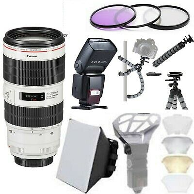 Canon EF 70-200mm f/2.8L IS III USM Lens with Universal Flash Starter Bundle USA