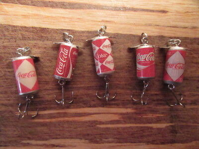 Coca Cola Coke New Classic 5 Different Vintage Pop Promotional Fishing Lures