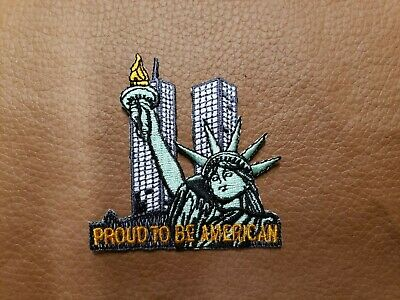 """USA Statue of Liberty Patriotic Iron On Patch /""""AMERICA THE BEAUTIFUL/"""""""