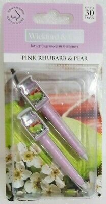 Wickford & Co. - Car Air Vent Freshener - Pink Rhubarb & Pear   *New And Sealed*